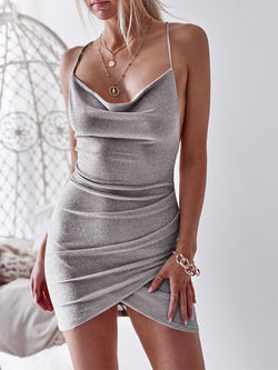 Women's Sexy Sleeveless Nightclub Party Bodycon Dresses