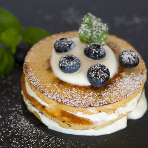 Blueberry Greek Yoghurt Pancakes