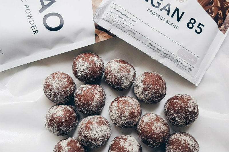 Chocolate Almond Protein Balls