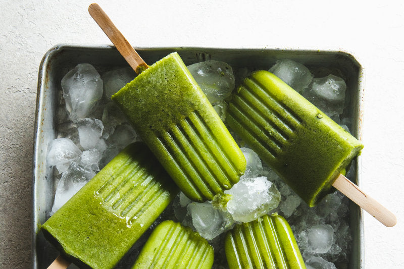 Green Summer Ice Blocks