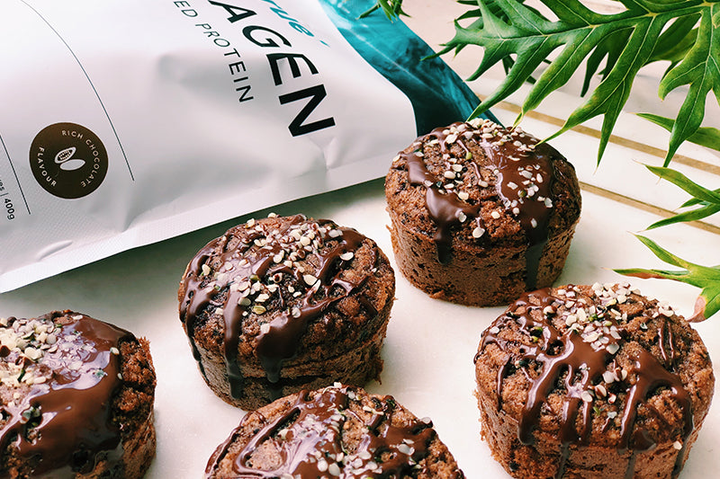 Rich Chocolate Collagen Muffins