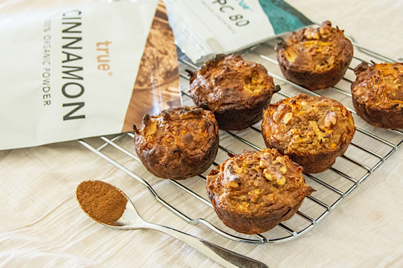 Apple and Carrot Protein Muffins