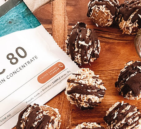 Salted Caramel & Toasted Coconut Protein Balls