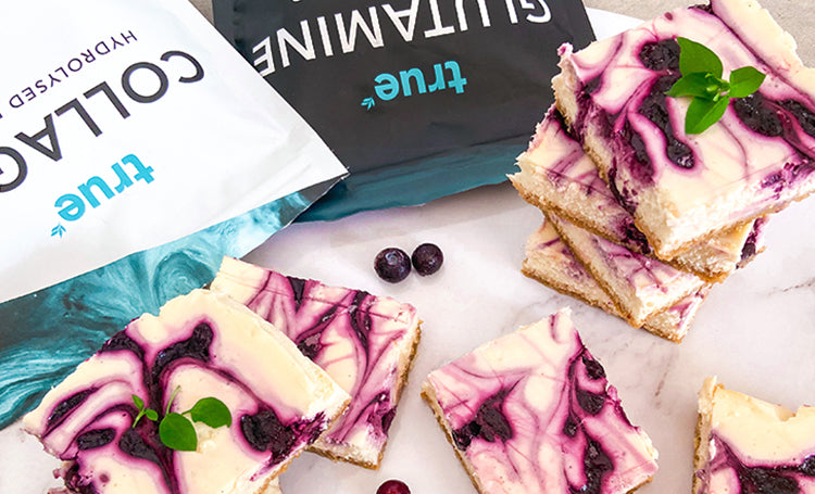 Blueberry Swirl Cheesecake Slice