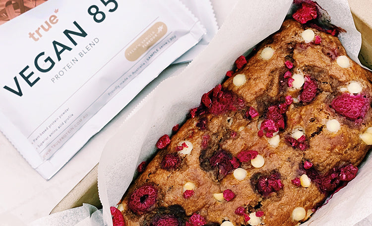 Raspberry & White Chocolate Banana Bread