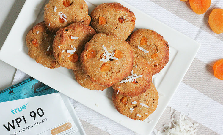 Apricot and Coconut Protein Cookies