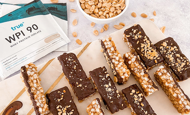 Salted Caramel & Peanut Butter Crunch Bars