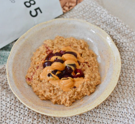 Cherry and Peanut Butter Protein Oats
