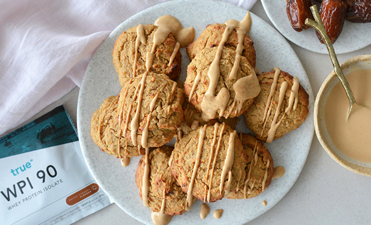 Soft Baked Salted Caramel & Peanut Butter Cookies