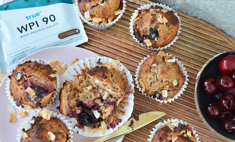 Cherry Toasted Coconut Muffins