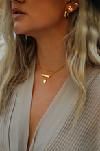 Load image into Gallery viewer, Briar Rectangle Bar Necklace