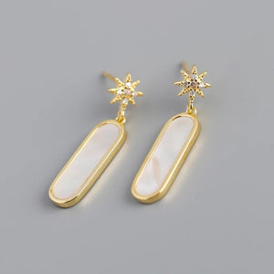 Venus, celestial drop earrings