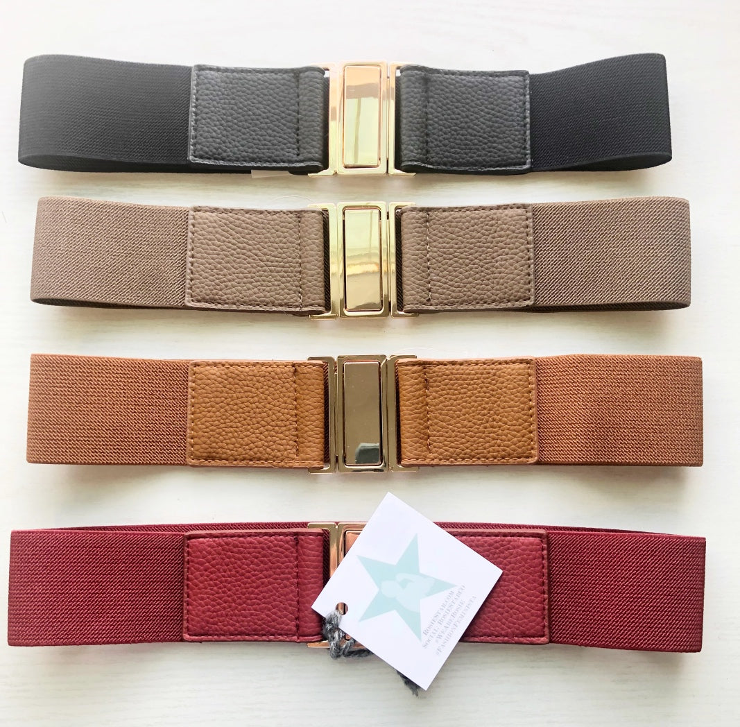 One size Elastic Belts - Multiple Colors