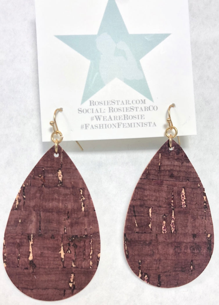 Cork Earrings - super light!
