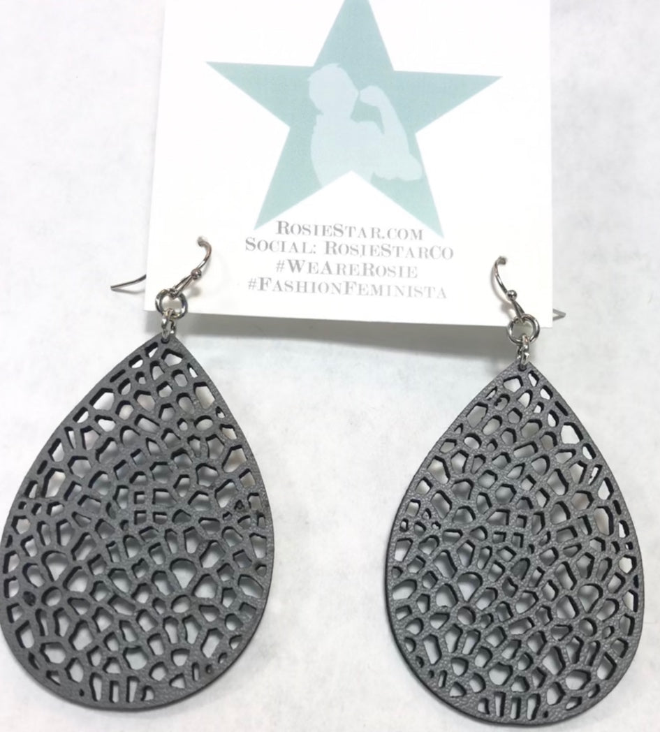 Gray Hole Earrings - Super Lightweight!