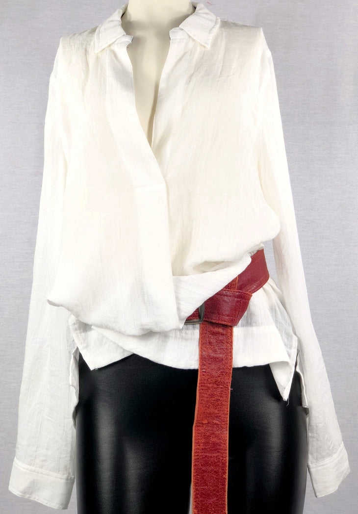 White Wrinkle Top - A closet staple!!