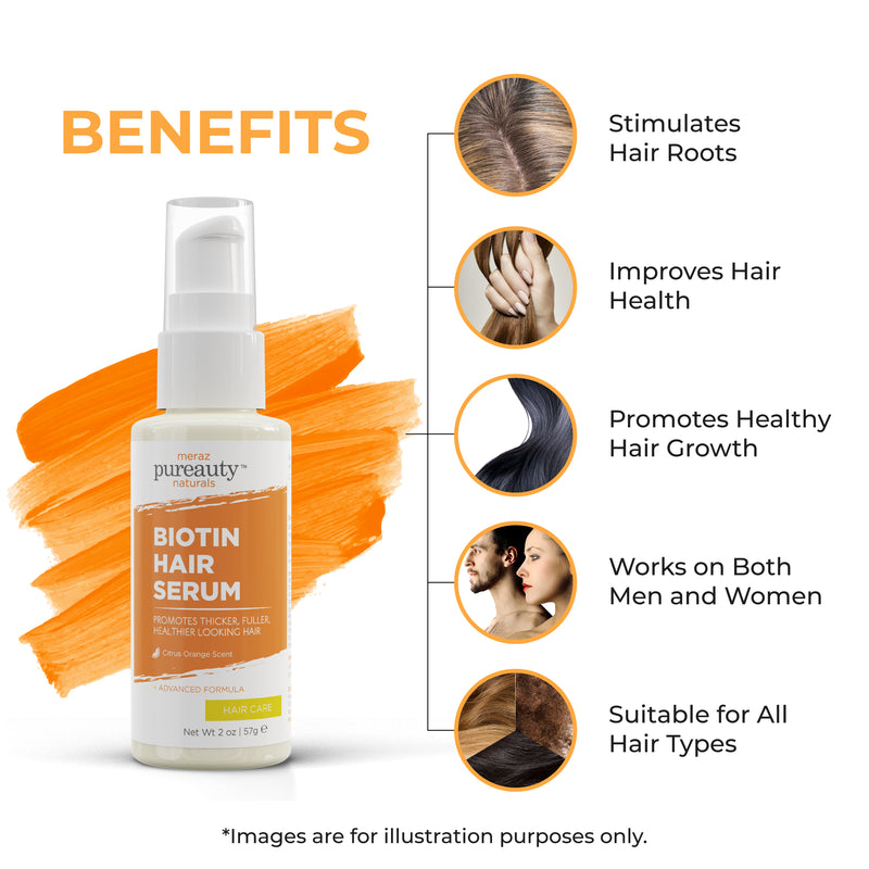 Biotin Hair Serum - with Citrus Orange scent
