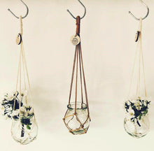 Load image into Gallery viewer, Hanaf - Macrame pot holder with glass vase