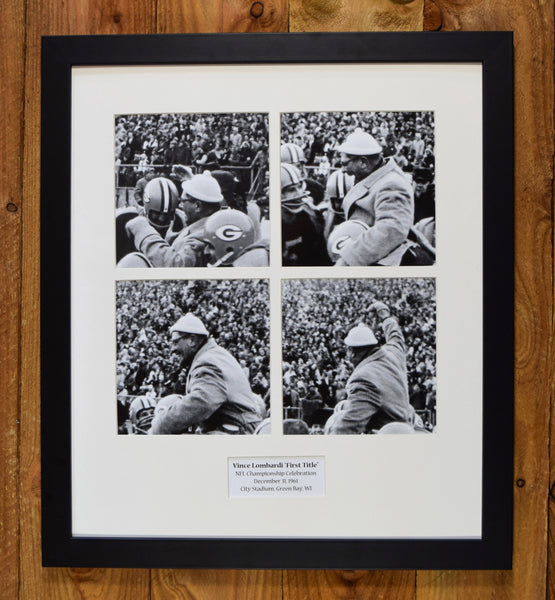 Vince Lombardi - 1961 Green Bay Packers NFL Championship Celebration - Sequential Images