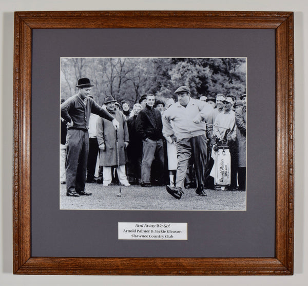 "Arnold Palmer and Jackie Gleason Gleason ""And Away We Go"" - Framed Wall Hanging"