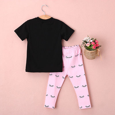 Lips Tops and Eyelash Pink Pants