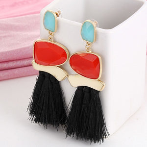 Bundle- 3 Layer Stone Tassel Earrings