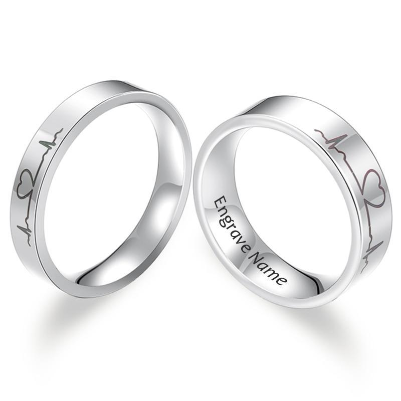 Our Heart Beat Couple Rings