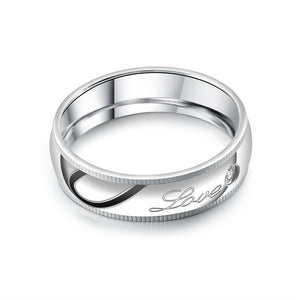 Engrave- One Heart Couple Ring
