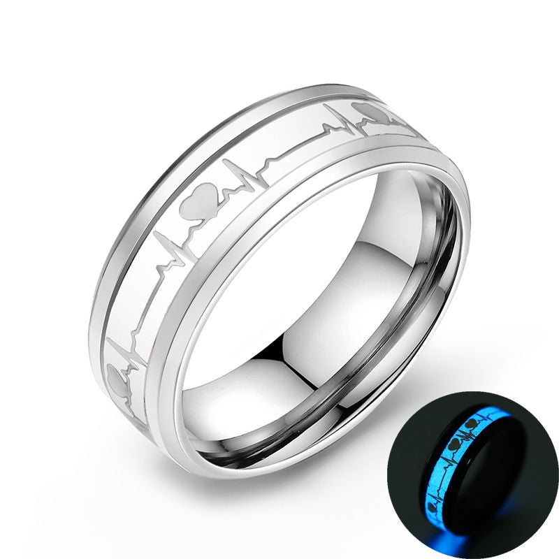Wave Love Ring -Glow in the dark