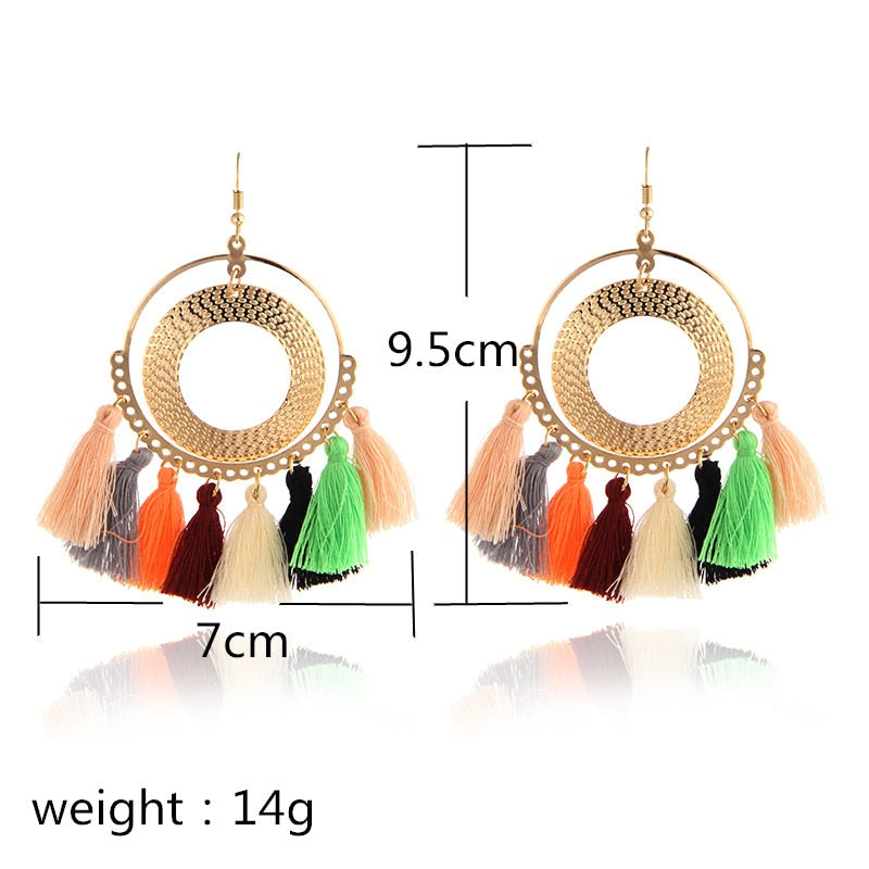 Bundle- Whimsical 8 Tassel Earrings