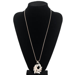 Peacock Princess Charm Necklace