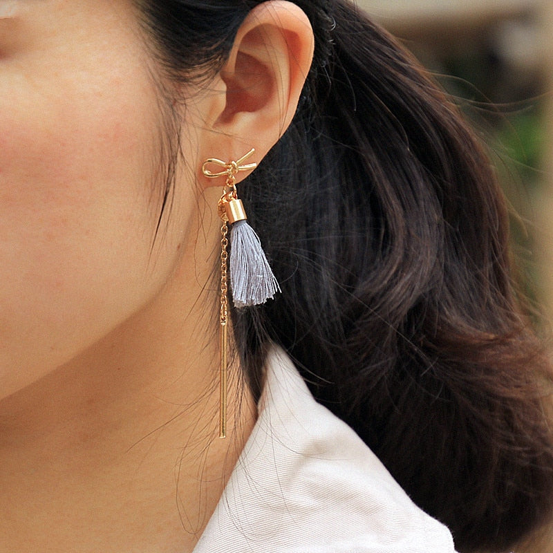 Bow & Tassel Earrings
