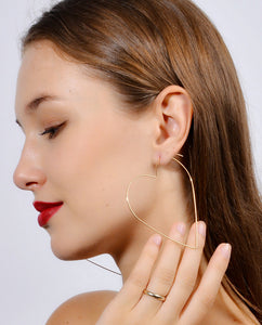 The Heart Hoop Earrings