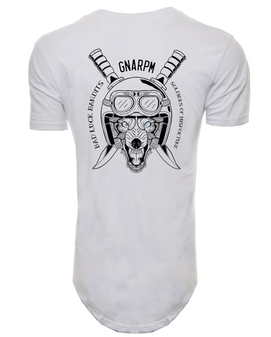 GNARPM Elongated Helmet Back Shirt - White