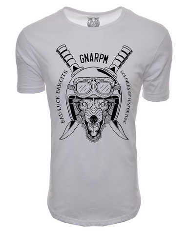 GNARPM Elongated Helmet Front Shirt LIMITED EDITION SIGNED - White