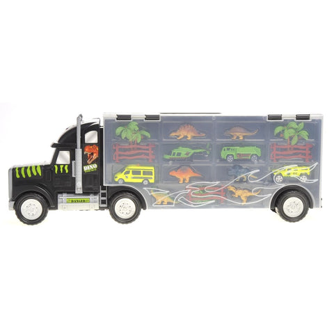 22 Transport Dinosaurs Car Carrier Truck Toy Includes Dinosaur Toys Cars and Helicopter