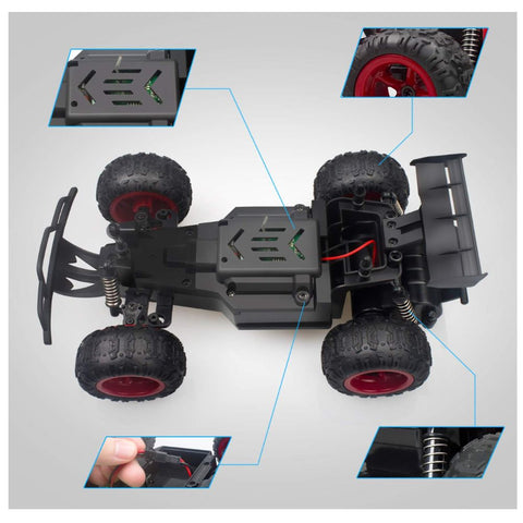 Image of Remote Control Car, 2.4 GHZ 1: 22 High Speed Racing Car with Four Batteries