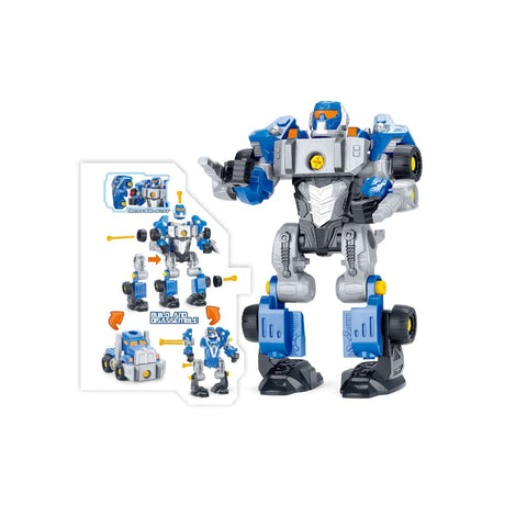 3-in-1 Take-A-Part Robot Toy Playset (Blue)