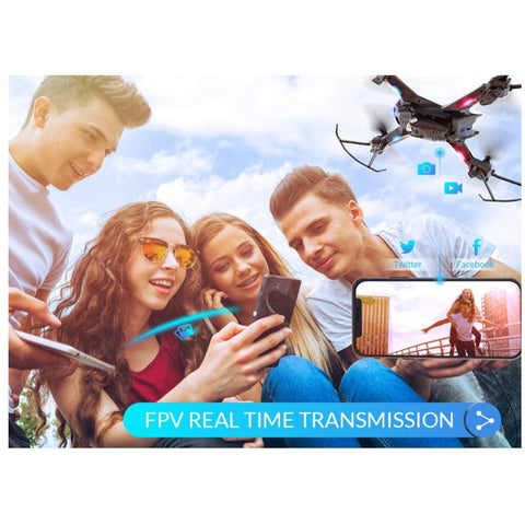 Image of S5C WiFi FPV Drone with 720P HD Camera, Voice & Gesture Control RC Quadcopter for Beginners