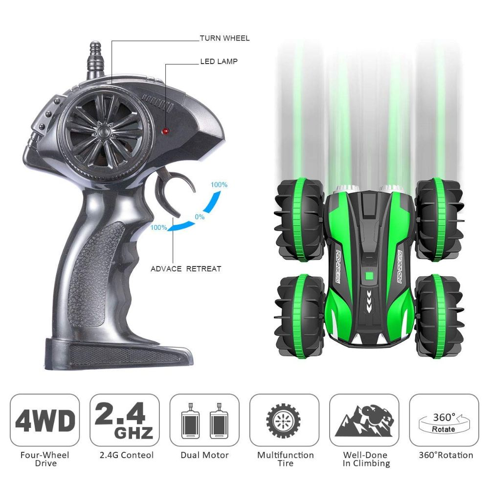 2 in 1 4WD 6CH 2.4Ghz Waterproof Remote Control Car Boat Truck for Land & Water