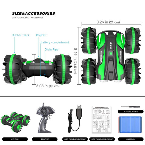 Image of 2 in 1 4WD 6CH 2.4Ghz Waterproof Remote Control Car Boat Truck for Land & Water