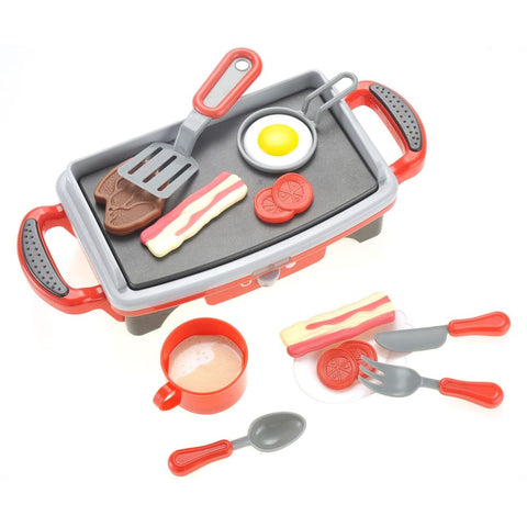 Breakfast Griddle Electric Kitchen Grill Pretend Food Playset