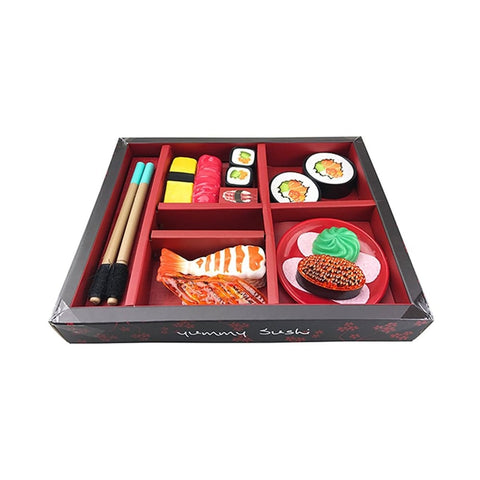 Japanese Sushi Dinner Bento Box Pretend Play Cutting Food Set 21pcs