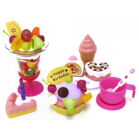 Play Food Set With Cupcake Cakes Ice Cream & Sundae
