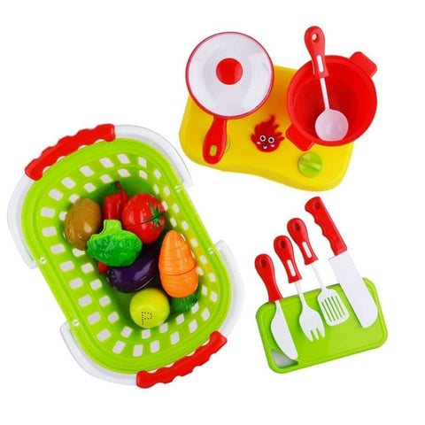 Pretend Play Food Vegetable Basket
