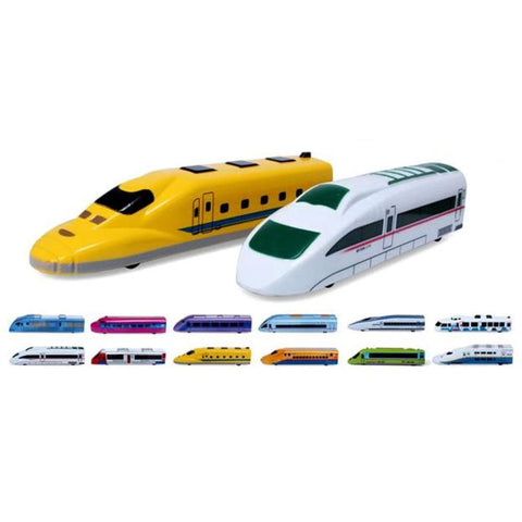 Pull Back Toy Trains Set Of 12