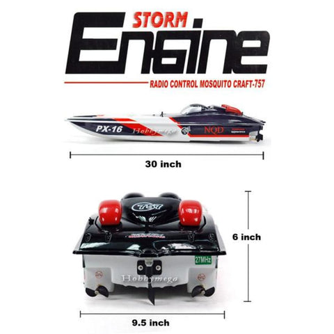 Image of RC 32 Storm Engine PX-16 Radio Control Racing Boaat