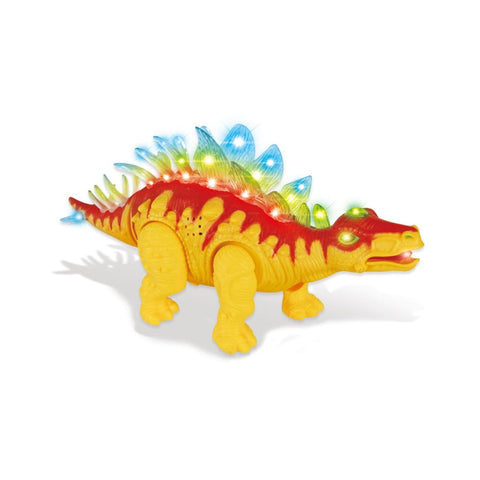 Stegosaurus Dinosaur With Lights And Sounds (Orange)