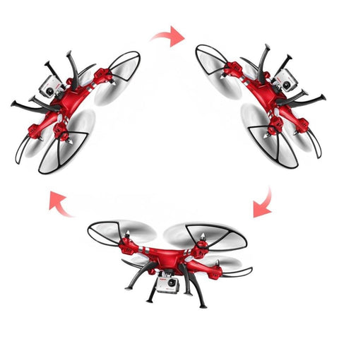 Syma 2.4G 4CH 6Axis RC Drone with 8MP Camera & Hold Mode (Red)