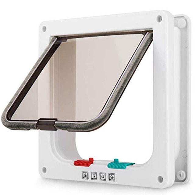 Pet Flap Door with 4 Way Lock Security